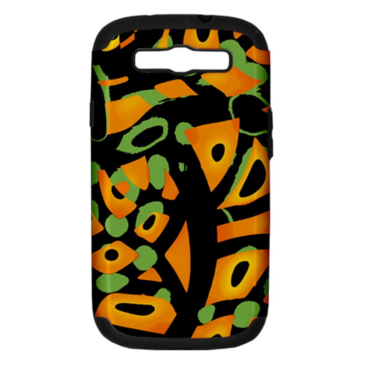 Abstract animal print Samsung Galaxy S III Hardshell Case (PC+Silicone)