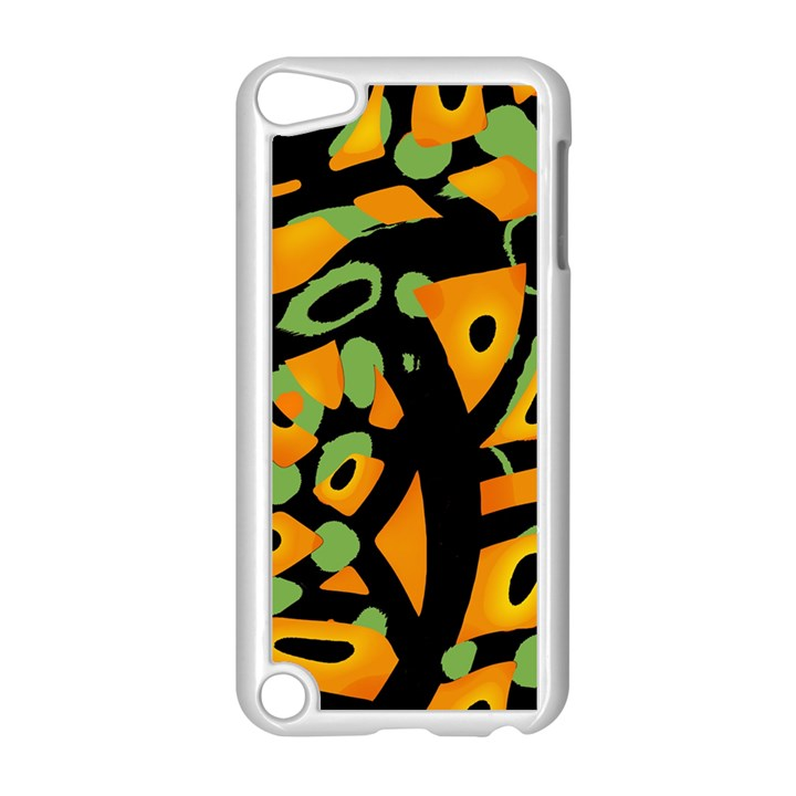 Abstract animal print Apple iPod Touch 5 Case (White)