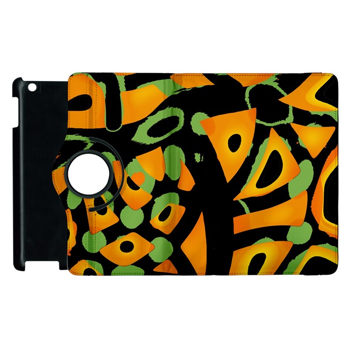 Abstract animal print Apple iPad 3/4 Flip 360 Case