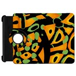 Abstract animal print Kindle Fire HD Flip 360 Case Front