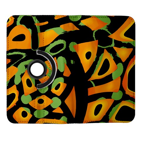 Abstract animal print Samsung Galaxy Note II Flip 360 Case