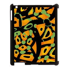 Abstract animal print Apple iPad 3/4 Case (Black)