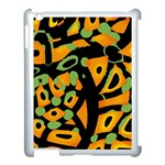Abstract animal print Apple iPad 3/4 Case (White) Front