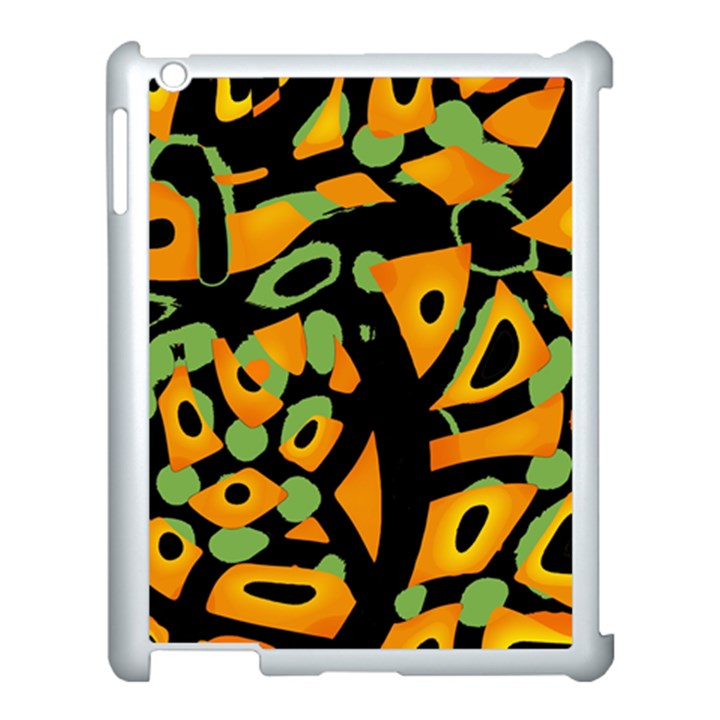 Abstract animal print Apple iPad 3/4 Case (White)