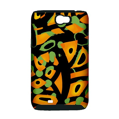 Abstract animal print Samsung Galaxy Note 2 Hardshell Case (PC+Silicone)