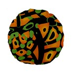 Abstract animal print Standard 15  Premium Round Cushions Front
