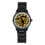Abstract animal print Stainless Steel Round Watch Front