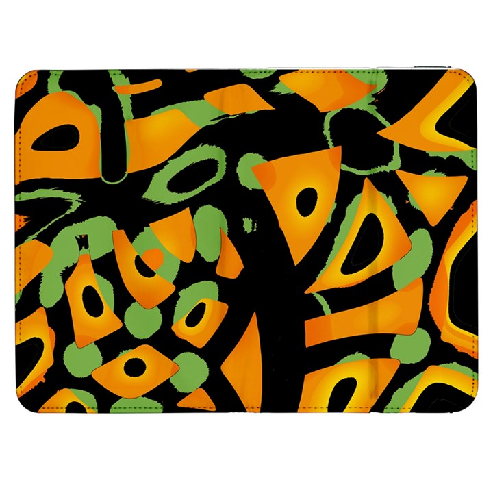 Abstract animal print Samsung Galaxy Tab 7  P1000 Flip Case
