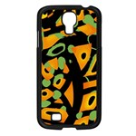 Abstract animal print Samsung Galaxy S4 I9500/ I9505 Case (Black) Front