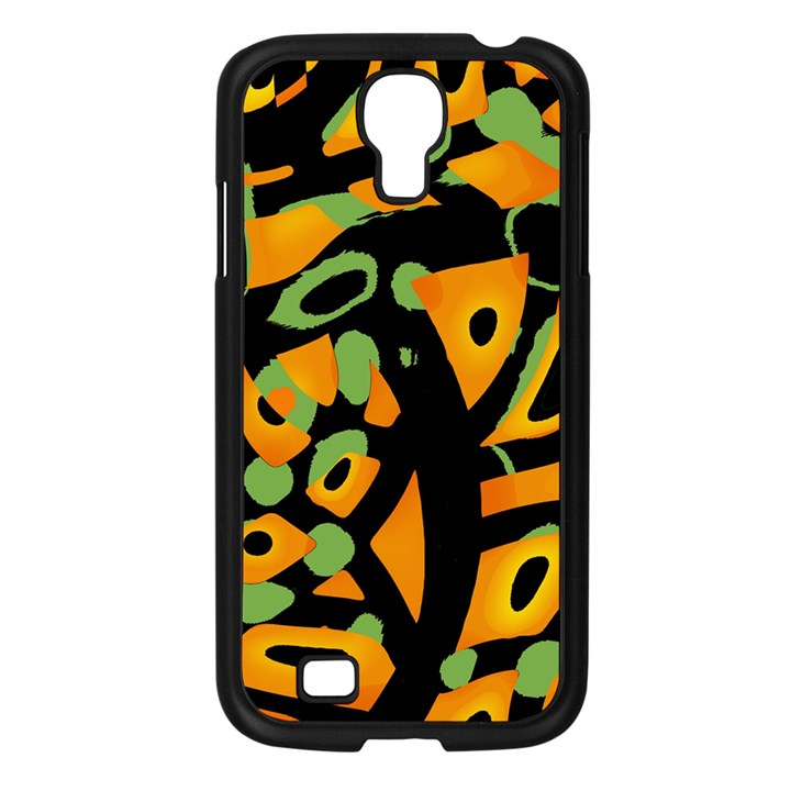 Abstract animal print Samsung Galaxy S4 I9500/ I9505 Case (Black)