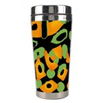 Abstract animal print Stainless Steel Travel Tumblers Left