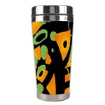 Abstract animal print Stainless Steel Travel Tumblers Center