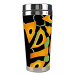Abstract animal print Stainless Steel Travel Tumblers Right