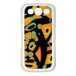 Abstract animal print Samsung Galaxy S3 Back Case (White) Front