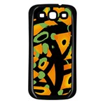 Abstract animal print Samsung Galaxy S3 Back Case (Black) Front