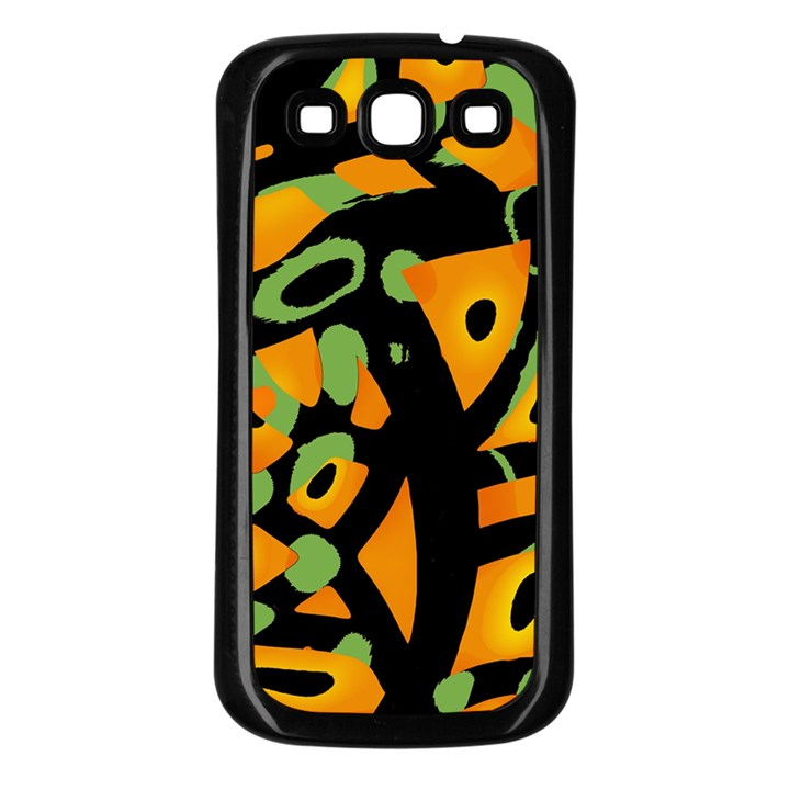 Abstract animal print Samsung Galaxy S3 Back Case (Black)