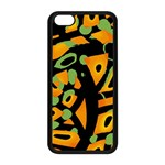 Abstract animal print Apple iPhone 5C Seamless Case (Black) Front