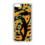 Abstract animal print Apple iPhone 5C Seamless Case (White) Front
