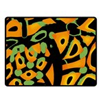 Abstract animal print Double Sided Fleece Blanket (Small)  50 x40 Blanket Front