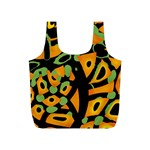 Abstract animal print Full Print Recycle Bags (S)  Back