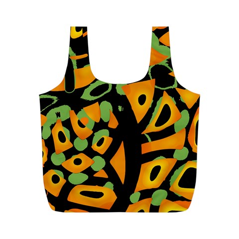 Abstract animal print Full Print Recycle Bags (M)