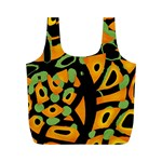 Abstract animal print Full Print Recycle Bags (M)  Back