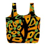 Abstract animal print Full Print Recycle Bags (L)  Front