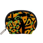 Abstract animal print Accessory Pouches (Small)  Front