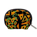 Abstract animal print Accessory Pouches (Small)  Back