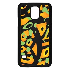 Abstract animal print Samsung Galaxy S5 Case (Black)