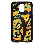 Abstract animal print Samsung Galaxy S5 Case (Black) Front
