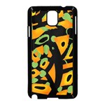 Abstract animal print Samsung Galaxy Note 3 Neo Hardshell Case (Black) Front