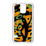 Abstract animal print Samsung Galaxy S5 Case (White) Front