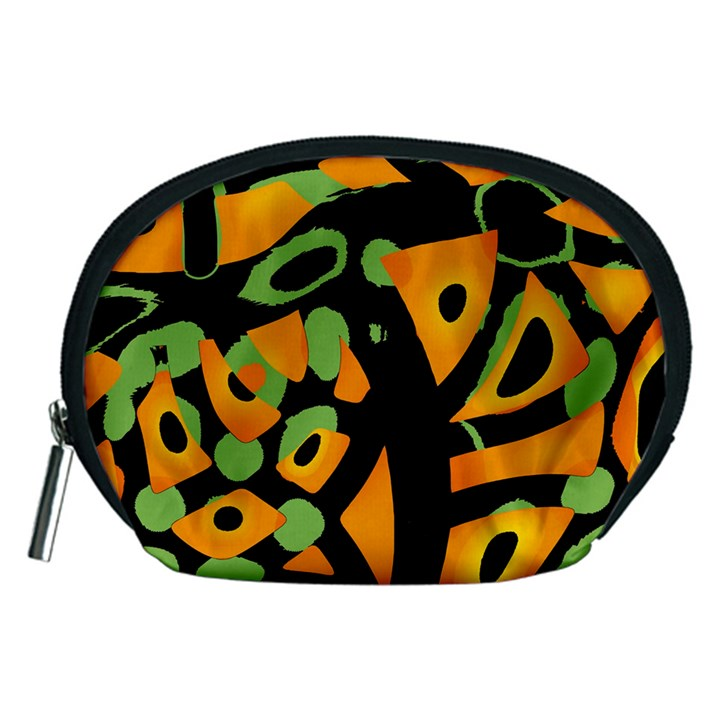 Abstract animal print Accessory Pouches (Medium)