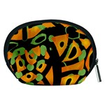 Abstract animal print Accessory Pouches (Medium)  Back
