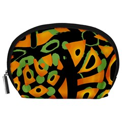 Abstract animal print Accessory Pouches (Large)