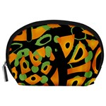 Abstract animal print Accessory Pouches (Large)  Front