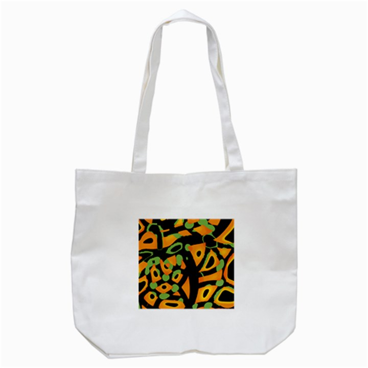 Abstract animal print Tote Bag (White)