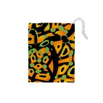 Abstract animal print Drawstring Pouches (Small)  Front