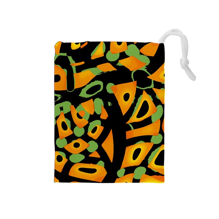 Abstract animal print Drawstring Pouches (Medium)