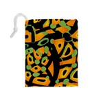Abstract animal print Drawstring Pouches (Medium)  Back