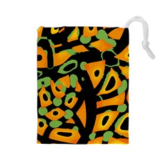 Abstract Animal Print Drawstring Pouches (large)