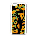 Abstract animal print Apple iPhone 6/6S White Enamel Case Front