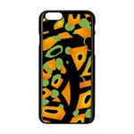 Abstract animal print Apple iPhone 6/6S Black Enamel Case Front