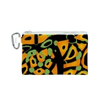 Abstract animal print Canvas Cosmetic Bag (S) Front