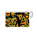Abstract animal print Canvas Cosmetic Bag (S) Back