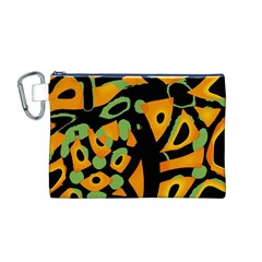 Abstract Animal Print Canvas Cosmetic Bag (m)