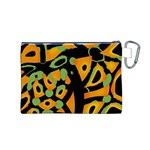 Abstract animal print Canvas Cosmetic Bag (M) Back