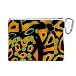 Abstract animal print Canvas Cosmetic Bag (L) Back