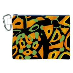 Abstract Animal Print Canvas Cosmetic Bag (xxl)
